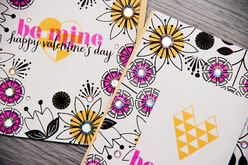 Yana Smakula | Modern Valentines Day Cards Hero Arts #stamping #love
