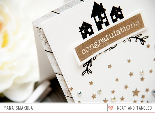 Yana Smakula | Neat & Tangled Congratulations Card using holiday products