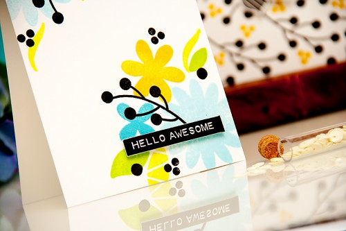 Yana Smakula | The Alley Way Stamps You Mean The world To Me stamped one layer card #stamping