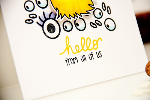Yana Smakula | The Alley Way Stamps Monster Cards stamped one layer card #stamping