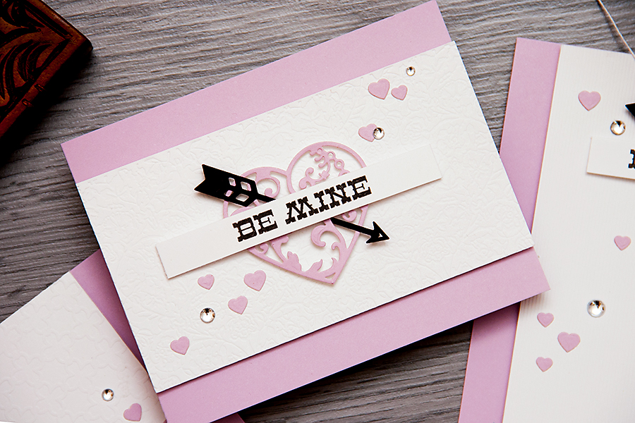 Yana Smakula | Clean & Simple Die Cutting #37. Textured paper Valentine's Day Cards. Video #cardmaking #diecutting #spellbinders #averyelle