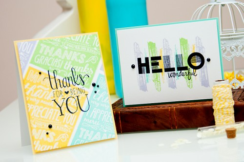 Yana Smakula | Hero Arts - Thank for being you & Hello Wonderful cards