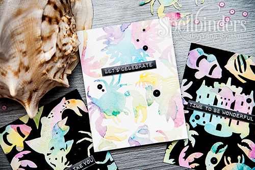 Yana Smakula | Watercolor die cuts and backgrounds. Video #spellbinders #diecutting #clearsnap #mamaelephant