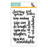 Simon Says Clear Stamps HAND LETTERED ENCOURAGEMENT sss101492 Hop To It