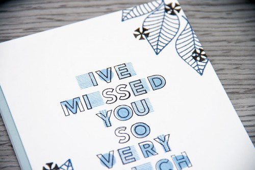 Yana Smakula | I've Missed You So Very Much Card