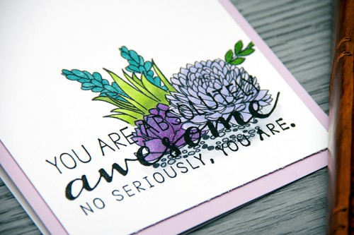 Yana Smakula | You Are Absolutely Awesome #heroarts #cardmaking #stamping #succulents