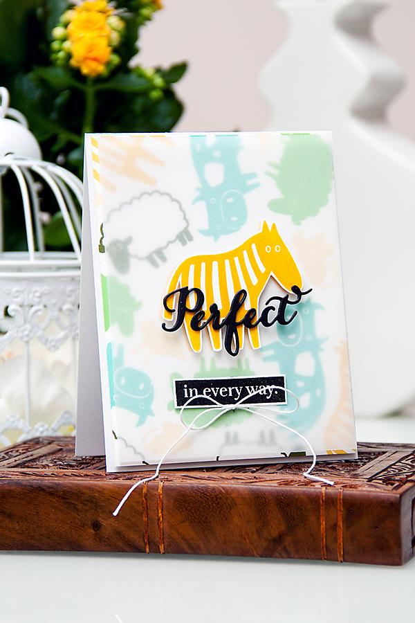 Yana Smakula | Waffle Flower Perfect in Every Way Card #stamping #cardmaking #waffleflower #zebra #animals