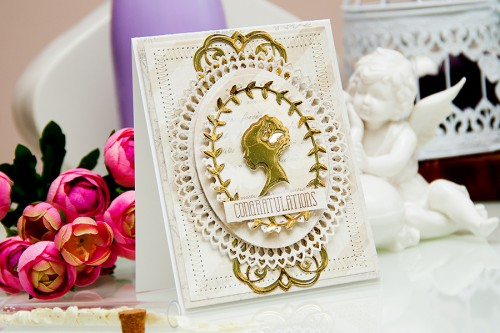 Yana Smakula | Elegant Congratulations Card #spellbinders #averyelle #firsteditions