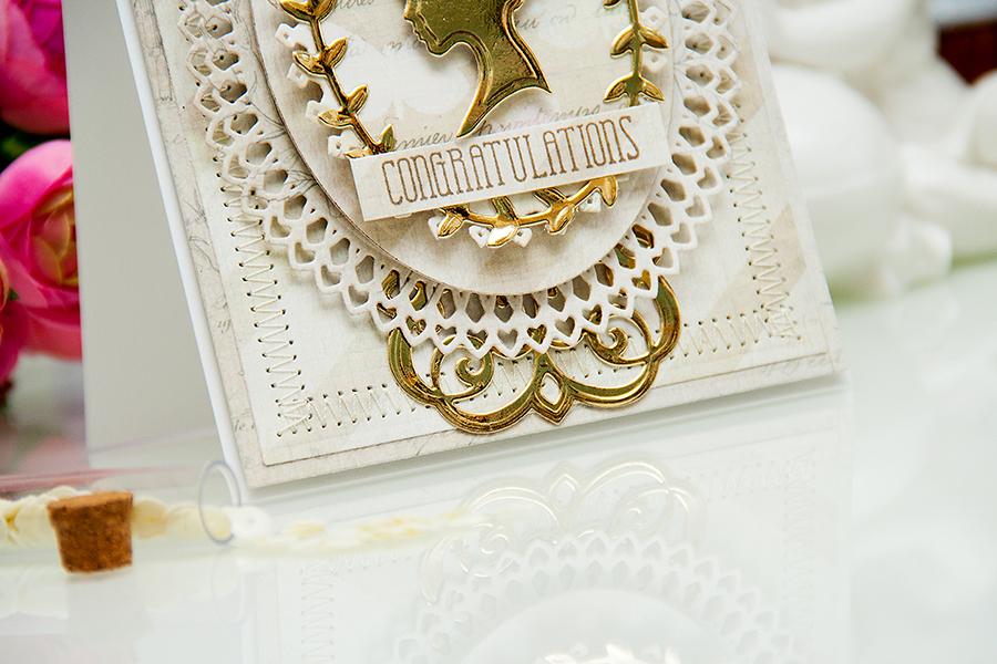 Yana Smakula | Elegant Congratulations Card #spellbinders #averyelle #firsteditions