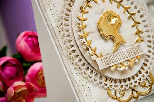 Yana Smakula   Elegant Congratulations Card #spellbinders #averyelle #firsteditions