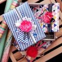Декор подарункових коробочок за допомогою паперових піонів