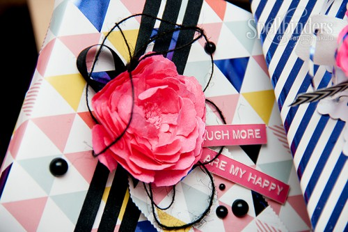 Yana Smakula | Spellinders Create a Poeny Flower Decorated Gift Wrap #paperflower #peony #diy
