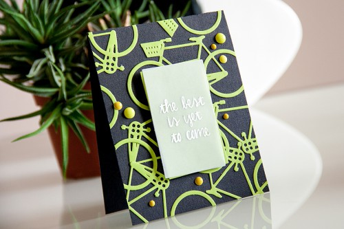 Yana Smakula | Bicycle The Best Is Yet To Come Card #cardmaking #diecutting