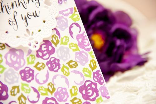 Yana Smakula | Clean & Simple Die Cutting - Thinking Of You Card #Spellbinders #AveryElle #stampingwithdies