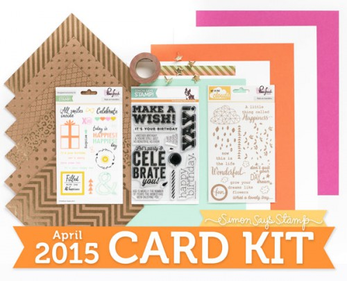 Simon Says Stamp April 2015 Card Kit - Make A Wish