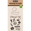 Hero Arts Stamp And Cuts FLOWERS Coordinating Stamp And Die Set DC130