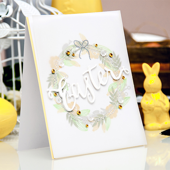 Easy Stamped Easter Wreath Card. Video