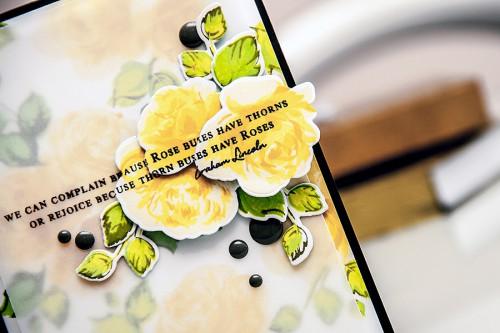 Yana Smakula | Altenew Vintage Roses Card #rosebushes, #stamping #altenew