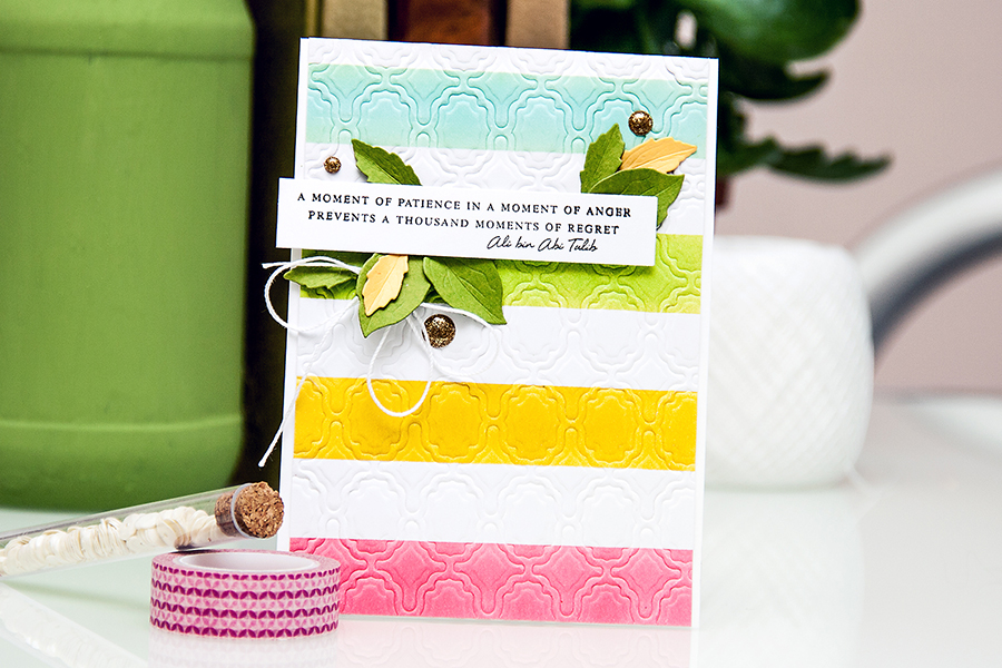 Yana Smakula | Clean & Simple Die Cutting - embossing with dies #spellbinders #altenwe