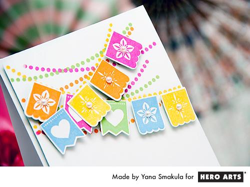 Yana Smakula | Hero Arts Papel Picado Banner Stamps and Dies