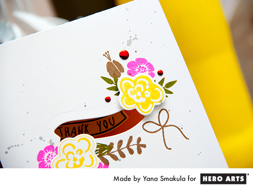 Yana Smakula | Hero Arts Stamp & Cut Flowers Window Card