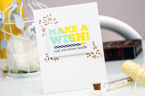 Yana Smakula | Simon Says Stamp April 2015 Card Kit - Make A Wish