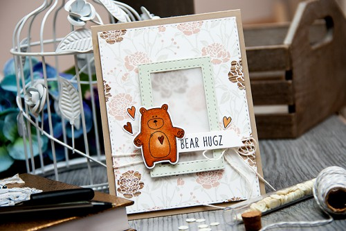 Yana Smakula | Simon Says Stamp Hop To It - Bear Hugs Card