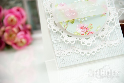 Yana Smakula | Spellbinders Circle Delight S4-511 Card - You Are In My Thoughts & Prayers using Bella Rose Papers from First Edition and Stamps from Altenew