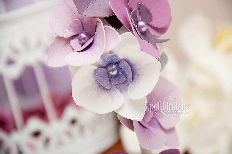 Як зробити орхідї із паперу. Відео майстер клас. Spellbinders Create An Orchid S2-162