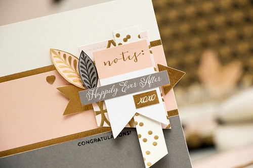 Yana Smakula | Simon Says Stap May Card Kit Wedding Themed Cards #sssck #cardkit #carmaking #wedding #goldandpeach
