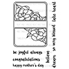 Neat and Tangled GARDENIA BLOOMS JOURNALING CARD Clear Stamp Set