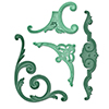 Ножі Gold Corbels and Accents, Spellbinders, S4-432