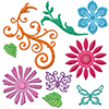 Spellbinders Jewel Flowers and Flourishes Dies S5-143