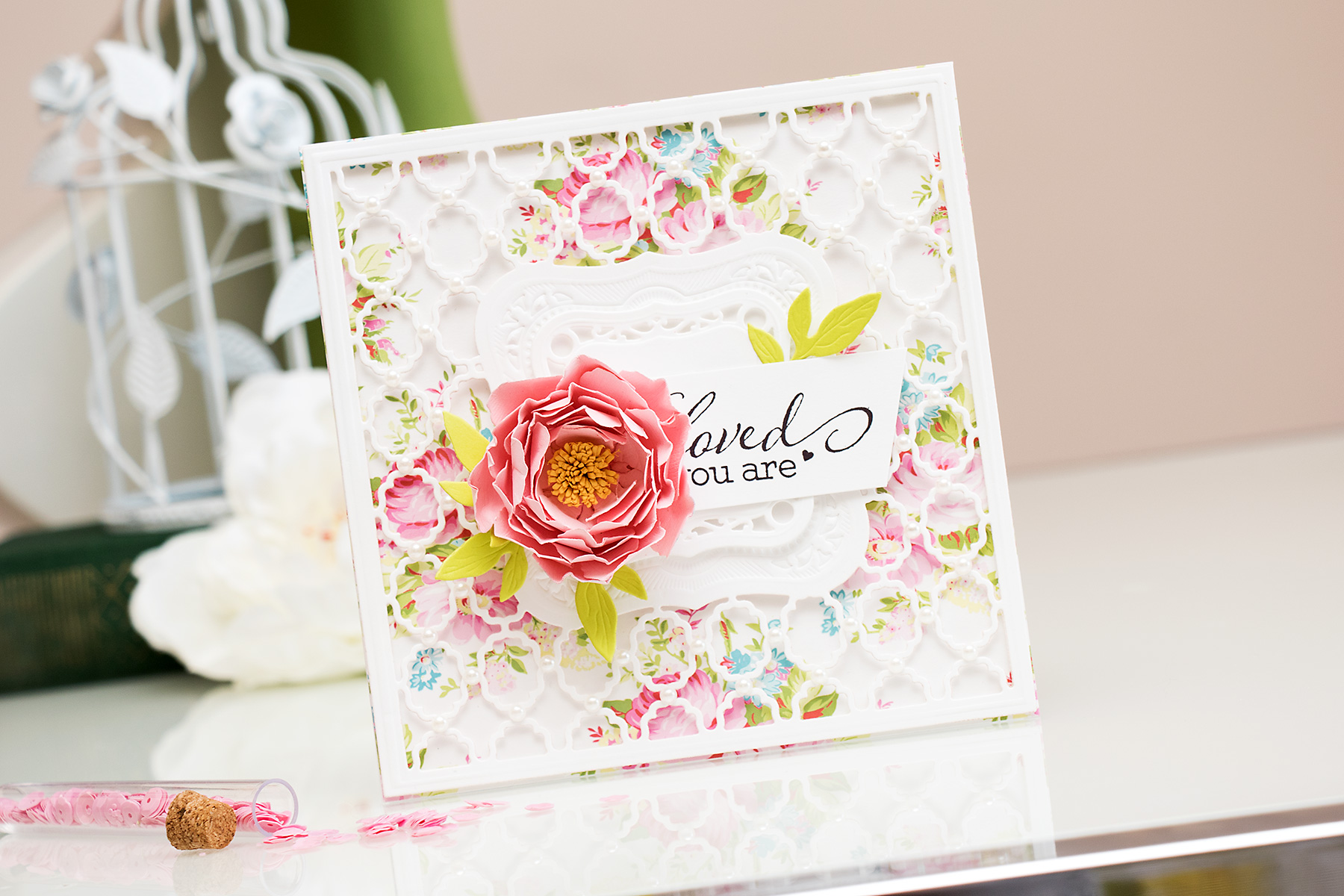 Yana Smakula | Spellbinders Card Creator 6x6 and Labels One You Are Loved Card. Video