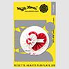 Waffle Flower Rosette Hearts Template Die