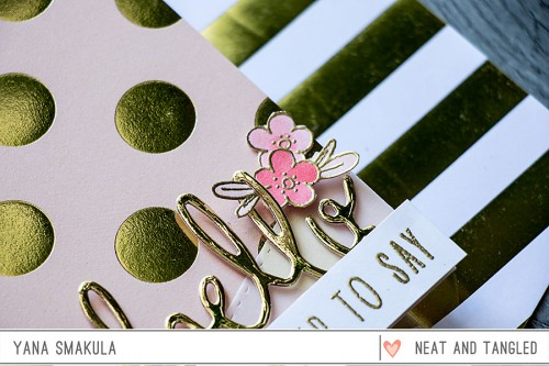 Yana Smakula | Neat & Tangled Just Wanted to Say Hello Card gold polka dot