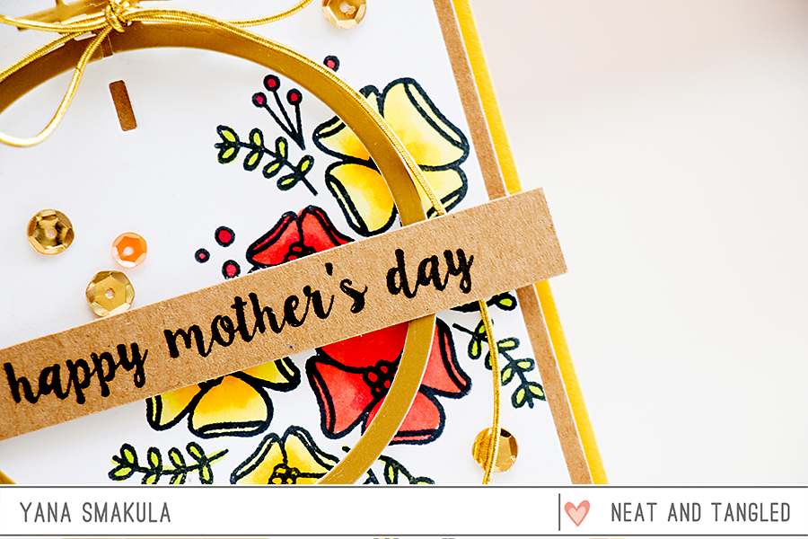 Yana Smakula | Neat & Tangled May 2015 Release. Day 1 - Happy Mother's Day featuring Send Pretty Mail stamp set + Hoop Die