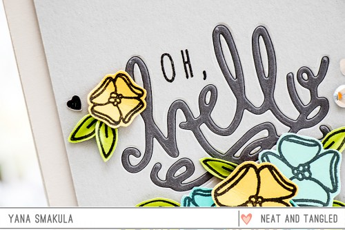 Yana Smakula | Neat & Tangled May 2015 Release. Day 3 - Oh Hello Card featuring Hello Stamp + Die set