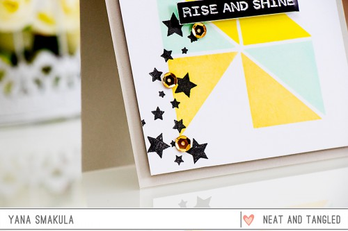 Yana Smakula | Neat & Tangled May 2015 Release. Day 4 - Rise & Shine Card featuring Planner Blocks
