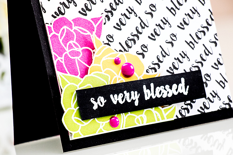 Neat & Tangled | Sentiment Background Stamping