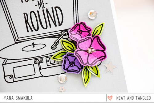 Yana Smakula | Neat & Tangled May 2015 Release. Day 5 - You Spin Me Round featuring For The Record stamp set
