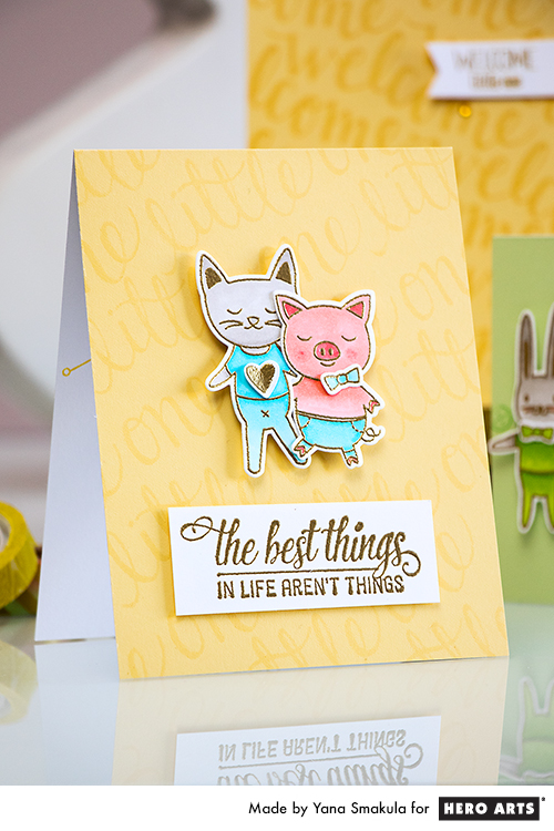 Yana Smakula | Hero Arts Baby Card The Best Things in Life Aren't Things