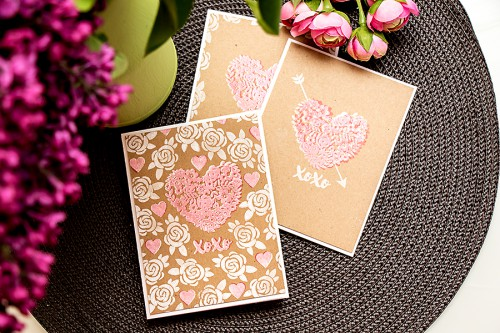 Yana Smakula | Hero Arts Lia Griffith Kraft XOXO Cards