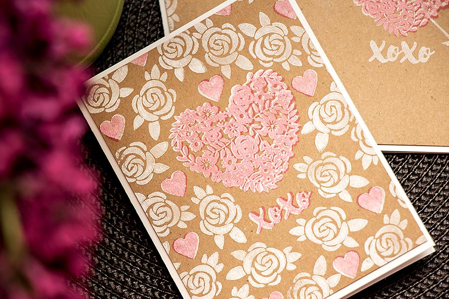 Yana Smakula | Hero Arts Lia Griffith Kraft XOXO Cards