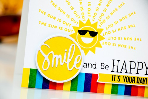 Yana Smakula | Simon Says Stamp June Card Kit - Smile & Be Happy Card