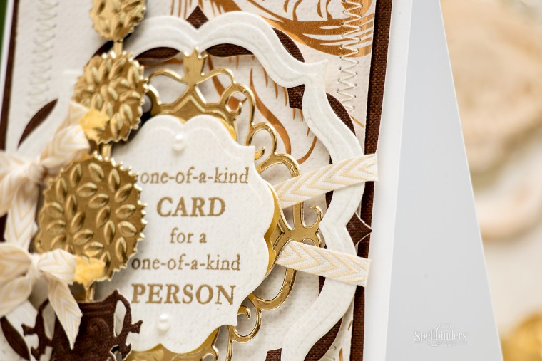 Yana Smakula | Spellbinders One of a Kind Card for One of a Kind Person using S4-526 Fancy Diamond S4-527 Decorative Fancy Diamond S4-529 Topiary Treasures