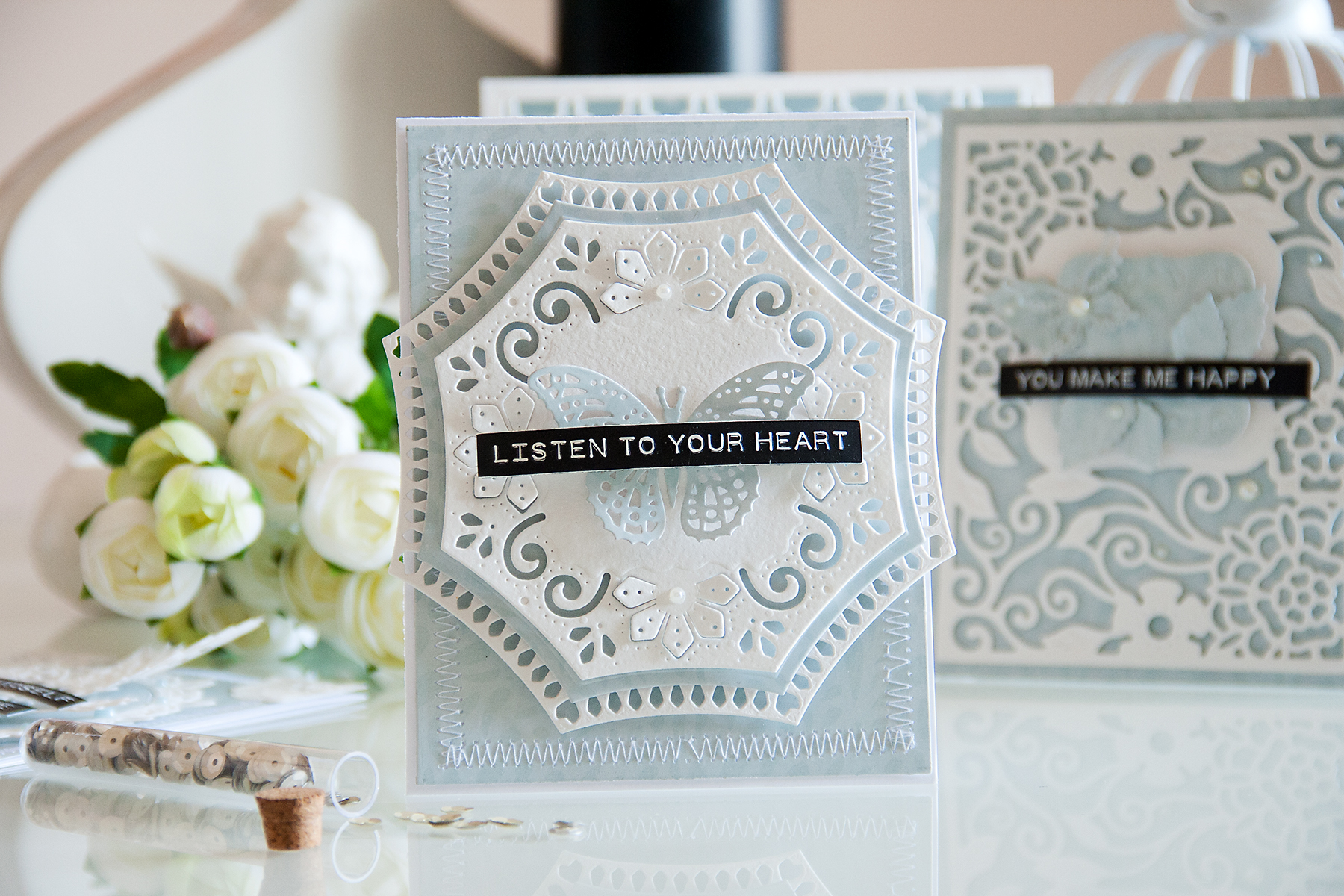 Yana Smakula | Spellbinders Listen to Your Heart Card
