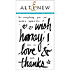 Altenew SUPER SCRIPT 2 Clear Stamp Set AN114
