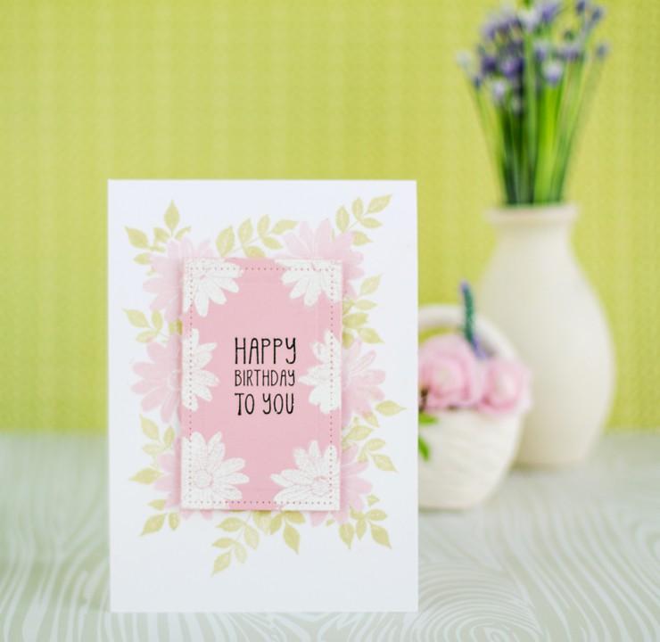 Як зробити прості вітальні листівки своїми руками. Листівка до Дня Народження. Майстер клас.