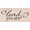 Hero Arts Rubber Stamp LOVED YOU ARE BY LIA D6095 Lia Griffith